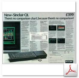 Sinclair QL First magazine advertisement 1984